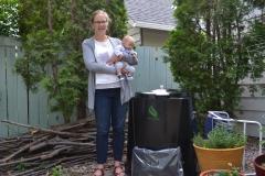 Lesley Baldwin and baby Soren